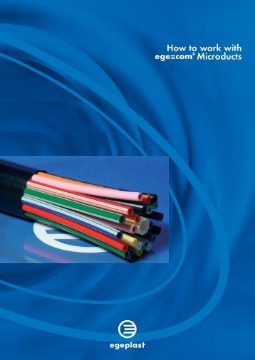 Installation of egegom Microducts - Egeplast