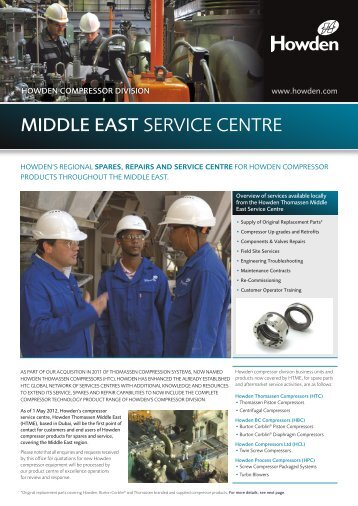 MIDDLE EAST SERVICE CENTRE - Thomassen