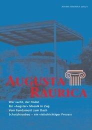 Augster» Mosaik in Zug Vom Fundament zum ... - Augusta Raurica