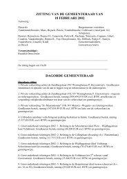 ZITTING VAN DE GEMEENTERAAD VAN - Stad Harelbeke