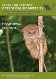 Abstract booklet - gtö – Society for Tropical Ecology
