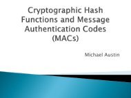 Cryptographic Hash Functions and MACs