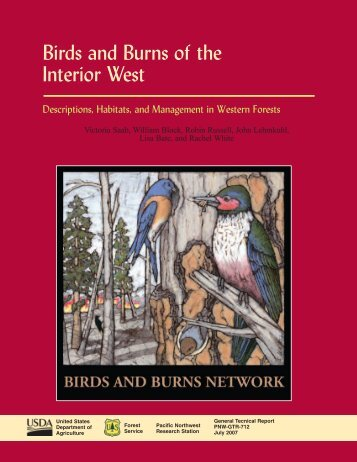 Birds and Burns of the Interior West - USDA Forest Service