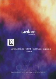 Saw/Diplexer Filter& Resonator Catalog