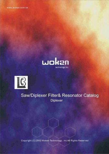 Saw/Diplexer Filter& Resonator Catalog