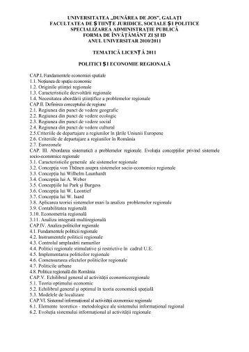 tematica + bibliografie licenta ap - Facultatea de Drept