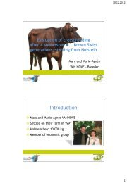 Evaluation of crossbreeding after 4 successive ... - BRUNA 2012