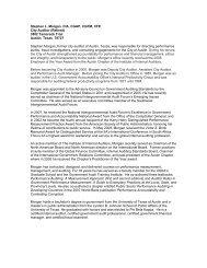 Stephen L. Morgan, CIA, CGAP, CGFM, CFE City Auditor ... - NASACT