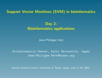 Bioinformatics applications - Center for Computational Biology