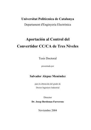 Aportación al Control del Convertidor CC/CA de Tres Niveles - TDX