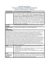 Quarterly Progress Report Training of Local Auditors in PNPM ...