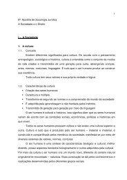 1 6ª. Apostila de Sociologia Jurídica A Sociedade e o Direito I – A ...