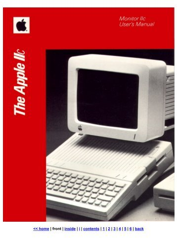 Monitor IIc User's Manual - Front Cover - Apple IIGS France