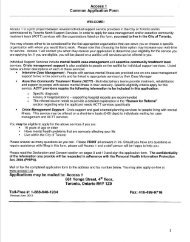 a Referral Form - Canadian Mental Health Association, Toronto ...