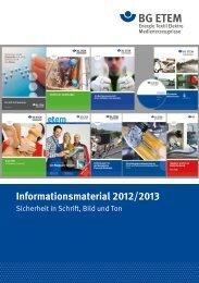 Informationsmaterial 2012/2013 - Die BG ETEM
