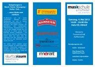 Samstag, 4. Mai 2013 14.00 – 24.00 Uhr Aula OZ, Abtwil - Schule ...