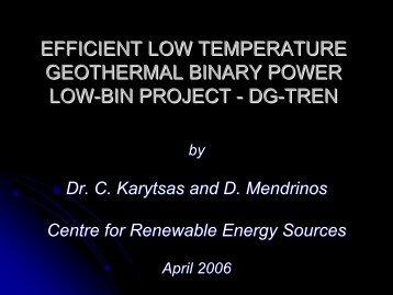LOW-BIN Presentation - LOW-BIN Geothermal Power