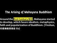 The Origins of Mahāyāna Buddhism
