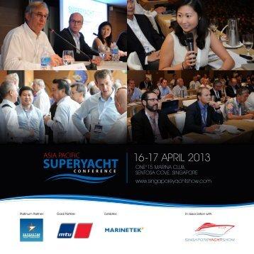 16-17 APRIL 2013 - Singapore Yacht Show