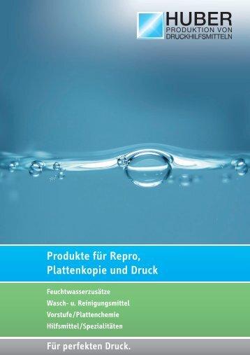 Produkte für Repro, Plattenkopie und Druck - HUBER GmbH