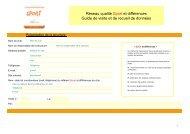 Guide de visite et recueil de données - CROS de Poitou-Charentes
