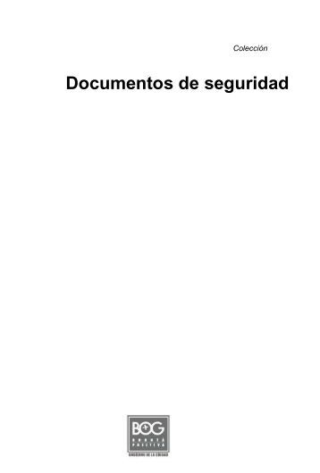 Documentos de seguridad - Instituto de Estudios Urbanos