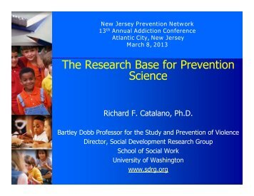The Research Base for Prevention Science - Social Development ...