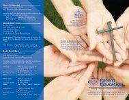 Parent Education Brochure - Charlotte Christian School