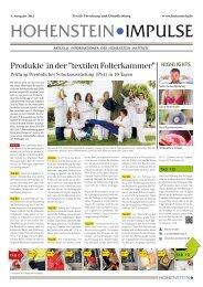 Impulse 1-2012 - Hohenstein Institute