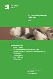 Pet Products & Services Collection 2008 - Packaged Facts