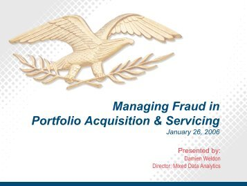 Managing Fraud in Portfolio Acquisition & Servicing
