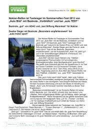 """""""Auto Bild"""" mit Bestnote """"Vorbildlich"""" - Nokian Tyres"""