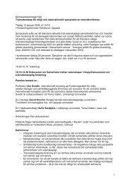 Minnesanteckningar från Tvärvetenskap för miljö och internationellt ...