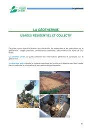 la géothermie : usages résidentiel et collectif - Conseil général des ...