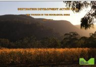 Shire of Moorabool Destination Development Action Plan 2009