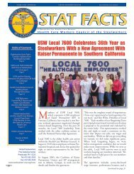 stat facts - United Steelworkers
