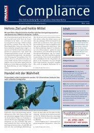 (PDF) | Ausgabe März 2009 - Compliance
