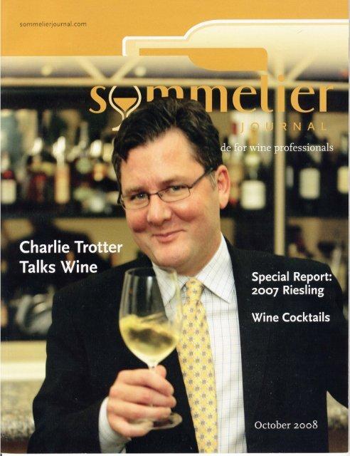 Charlie Trotter - Weingut Prager