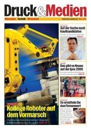 Kollege Roboter auf dem Vormarsch - Druck und Medien
