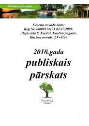 Kocēnu novada domes 2010. gada publiskais pārskats