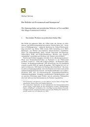 Der Politiker als Privatmensch und Staatsperson - Prof. Dr. Michael ...