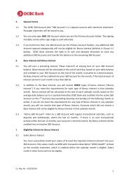 Terms and Conditions Governing the OCBC 360 ... - OCBC Bank