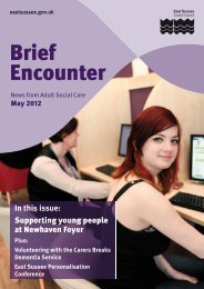 Brief Encounter - May 2012 - East Sussex County Council