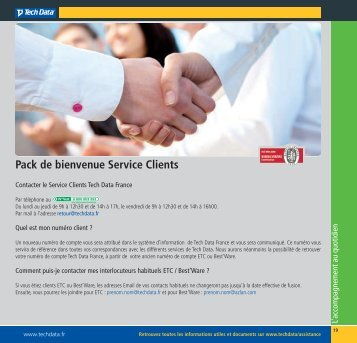 Pack de bienvenue Service Clients - Techdata