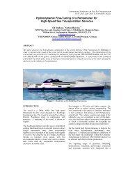 Hydrodynamic Fine-Tuning of a Pentamaran for High-Speed Sea ...