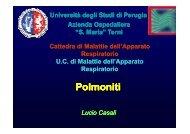Polmoniti 2011 [modalità compatibilità] - Facoltà di Medicina e ...
