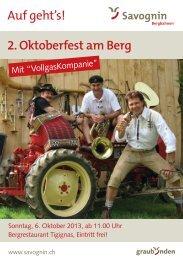 Oktoberfest am Berg 2013 - Savognin Bergbahnen