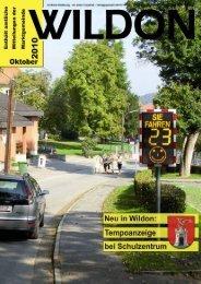können Sie die Gemeindezeitung von Oktober 2010 als ... - Wildon