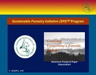 Sustainable Forestry Initiative - Wdscapps.caf.wvu.edu