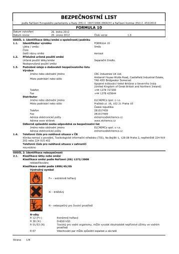FORMULA 10 - ELCHEMCo